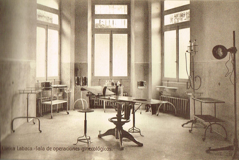 Clínica Labaca, sala de operaciones ginecológicas