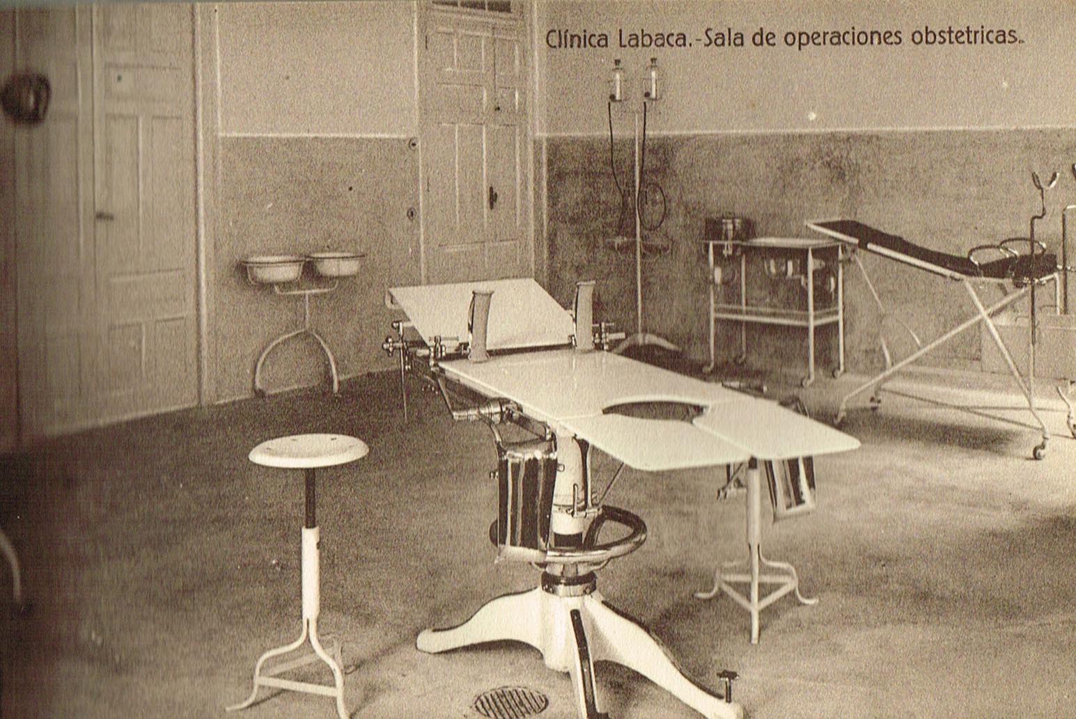 Clínica Labaca, sala de operaciones obstétricas